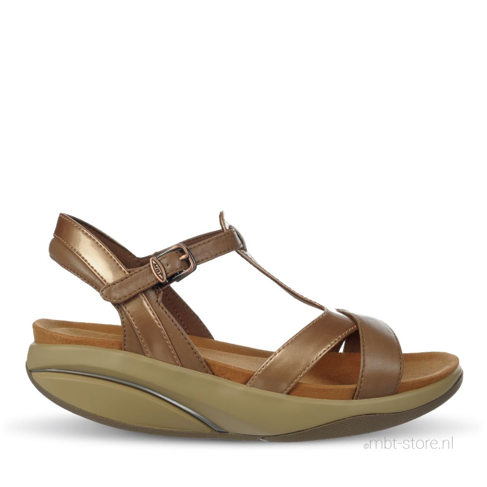 Raziya 6 W sandal croissant kangaroo